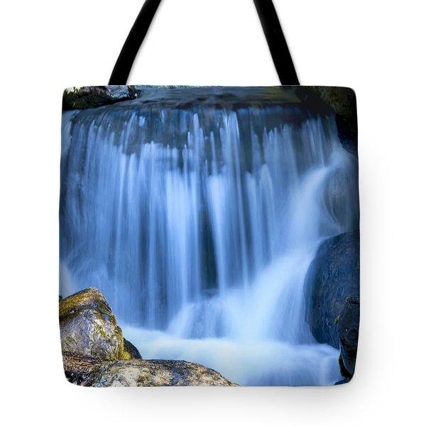 Waterfall At Dow Gardens, Midland Michigan Tote Bag