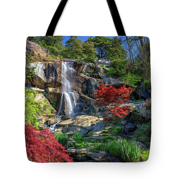 Tote Bag featuring the photograph Waterfall At Maymont by Rick Berk