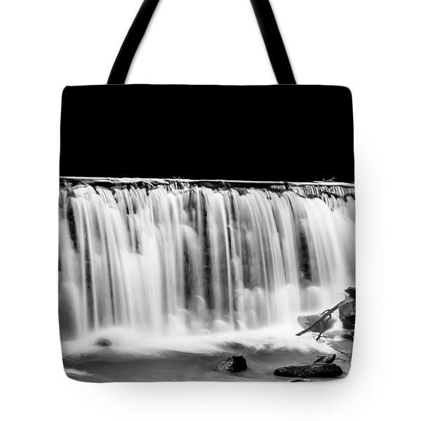 Waterfall At Night Tote Bag