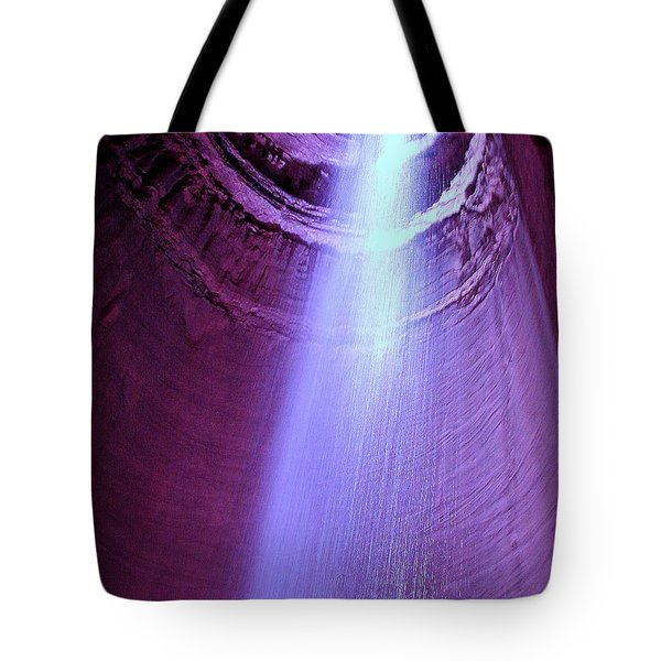 Waterfall At Ruby Falls Tote Bag by Debra Forand
