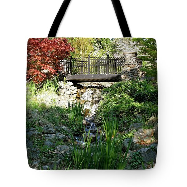 Tote Bag featuring the photograph Waterfall Bridge by Michele Myers