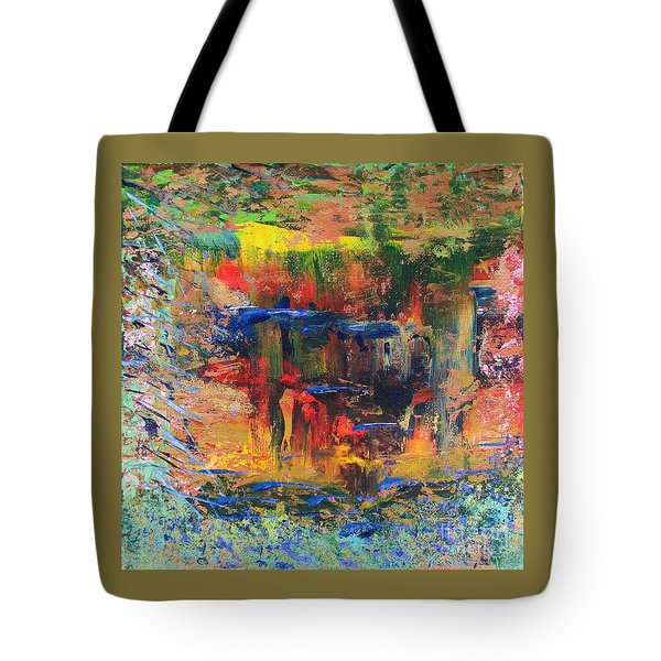 Tote Bag featuring the painting Waterfall by Corinne Carroll