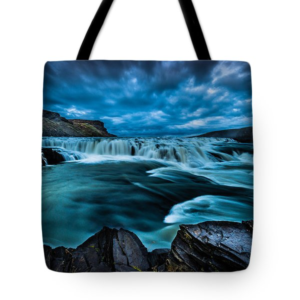Waterfall Drama Tote Bag by Chris McKenna