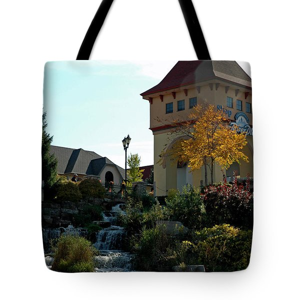 Tote Bag featuring the photograph Waterfall Frankenmuth Mich by LeeAnn McLaneGoetz McLaneGoetzStudioLLCcom