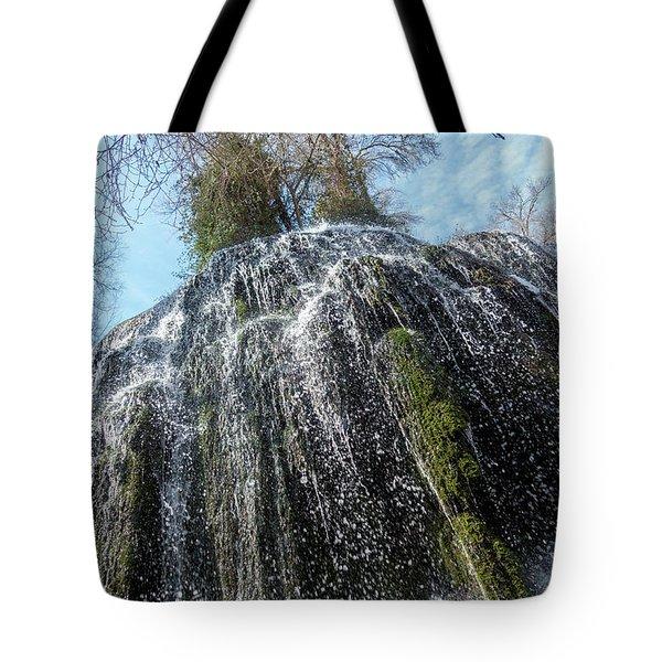 Waterfall From Below Tote Bag