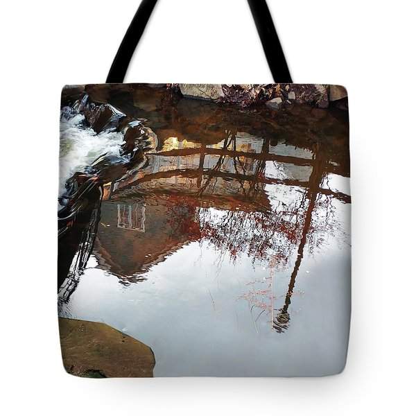 Waterfall From Calm Waters Tote Bag