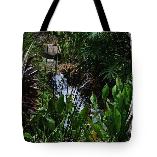 Waterfall Garden Swirl 2 Tote Bag