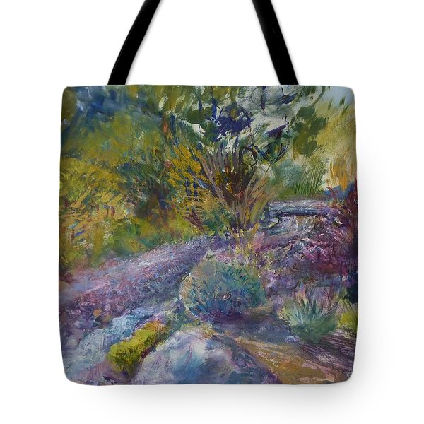 Chartreuse And Magenta Tote Bag by Helen Campbell