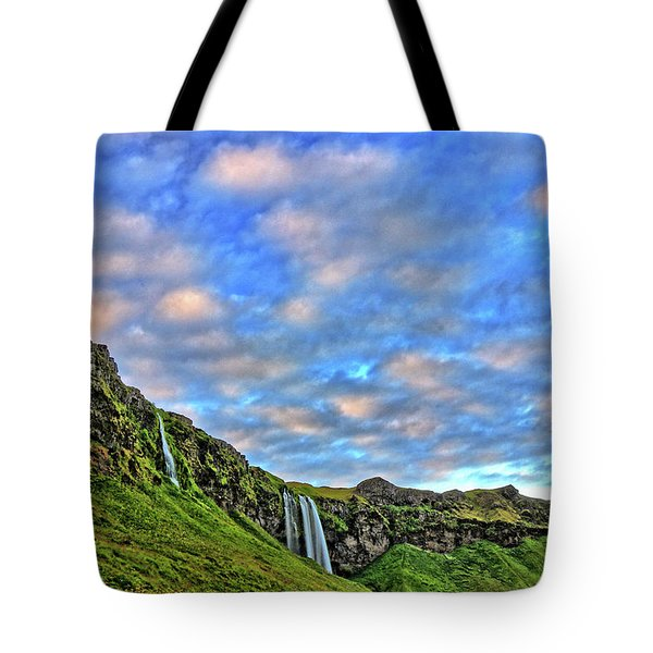 Tote Bag featuring the photograph Waterfall Hill by Scott Mahon