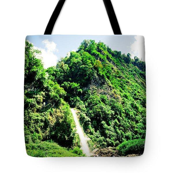 waterfall Himalayas mountains NEPAL Tote Bag