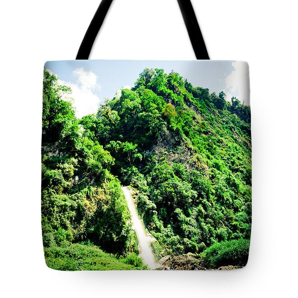 waterfall Himalayas mountains NEPAL Tote Bag