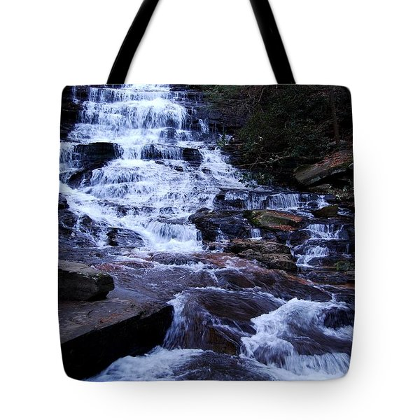 Waterfall In Georgia Tote Bag by Angela Murray
