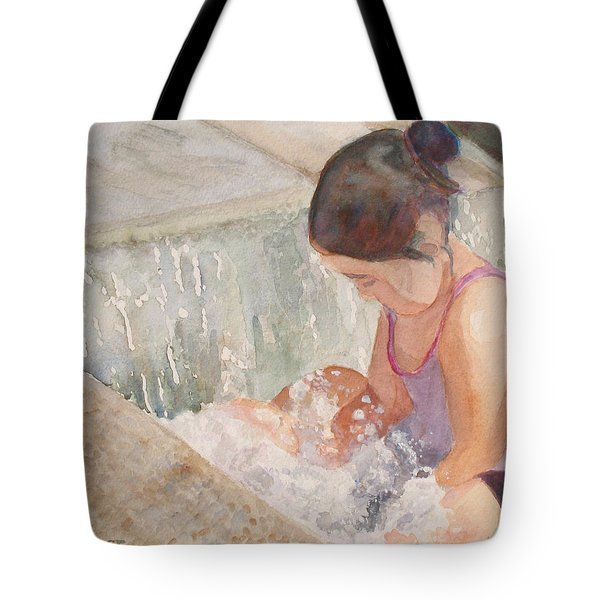 Waterfall In Her Lap Tote Bag by Jenny Armitage