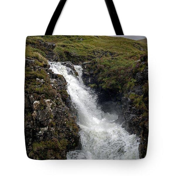 Waterfall In Isle Of Skye Tote Bag