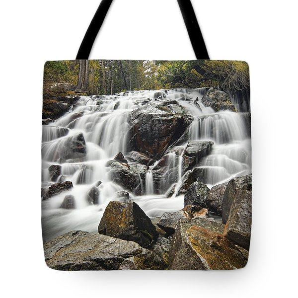 Waterfall In Lee Vining Canyon Tote Bag
