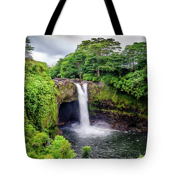 Waterfall Into The Valley Tote Bag