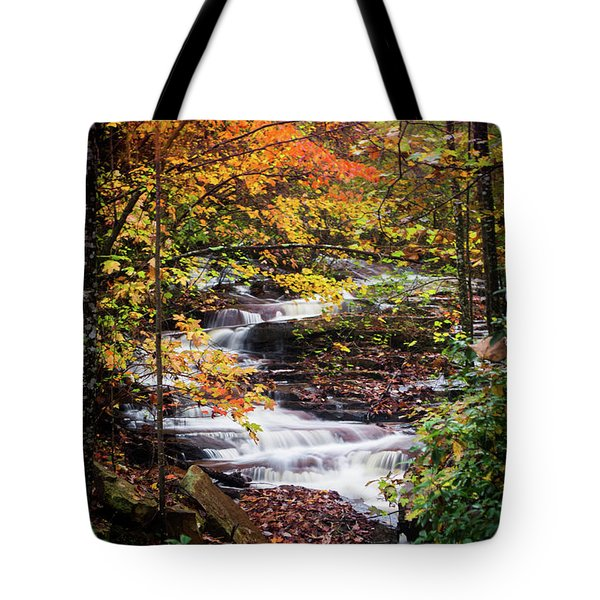 Tote Bag featuring the photograph Waterfall Kaleidoscope  by Parker Cunningham