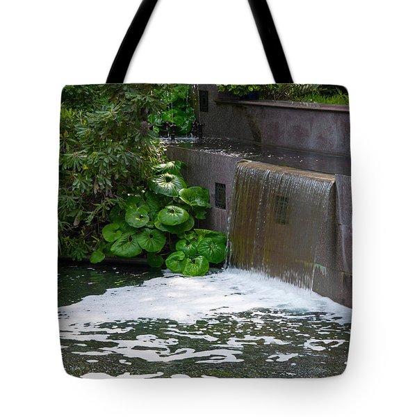 Waterfall - Longwood Gardens Tote Bag