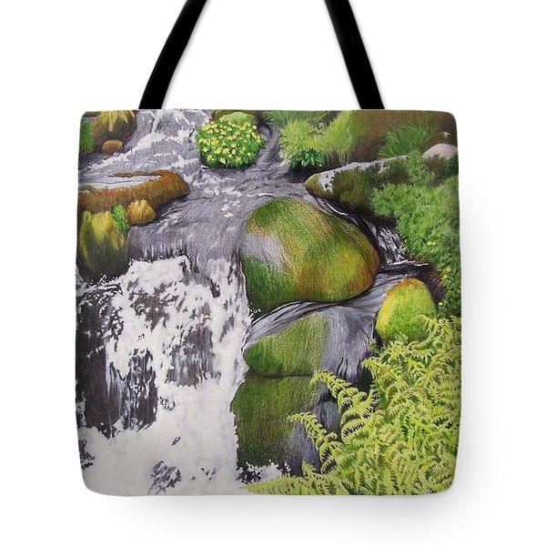 Waterfall On Skye Tote Bag