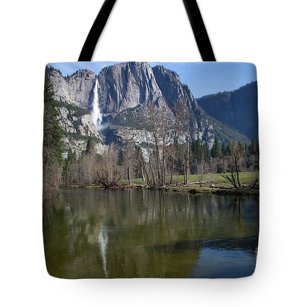 Waterfall Reflection Color Tote Bag