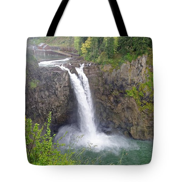 Waterfall Through The Mist Tote Bag