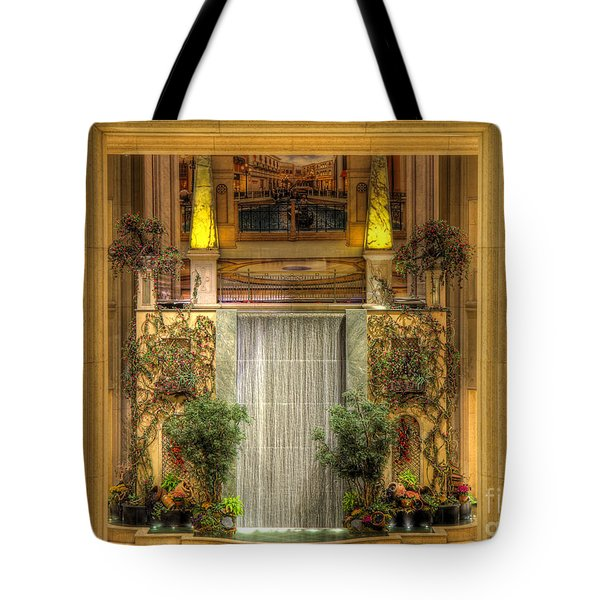Waterfall View And Hues Tote Bag