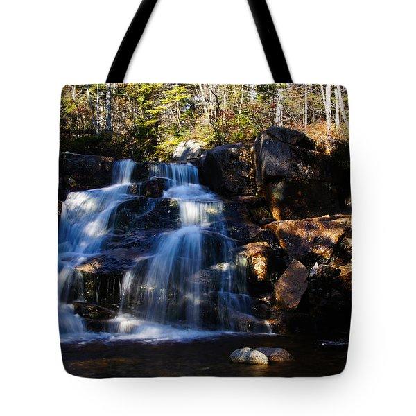 Waterfall, Whitewall Brook Tote Bag