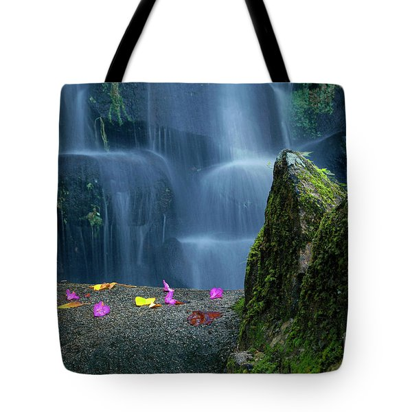 Waterfall02 Tote Bag by Carlos Caetano