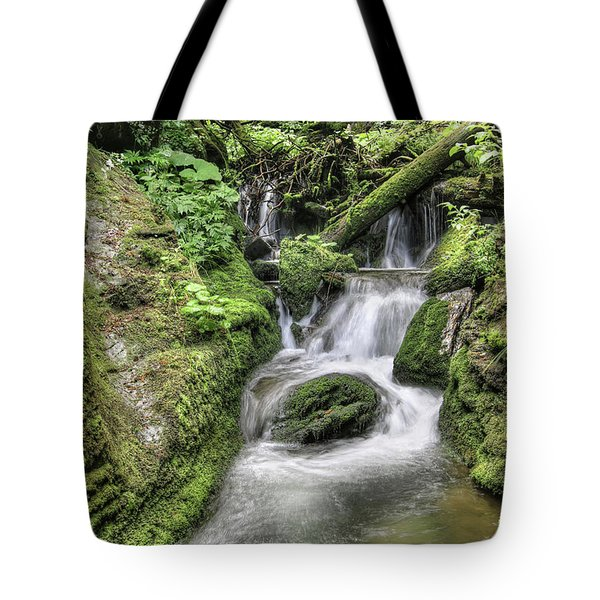Tote Bag featuring the photograph Waterfalls And Rapids On The White Opava Stream by Michal Boubin