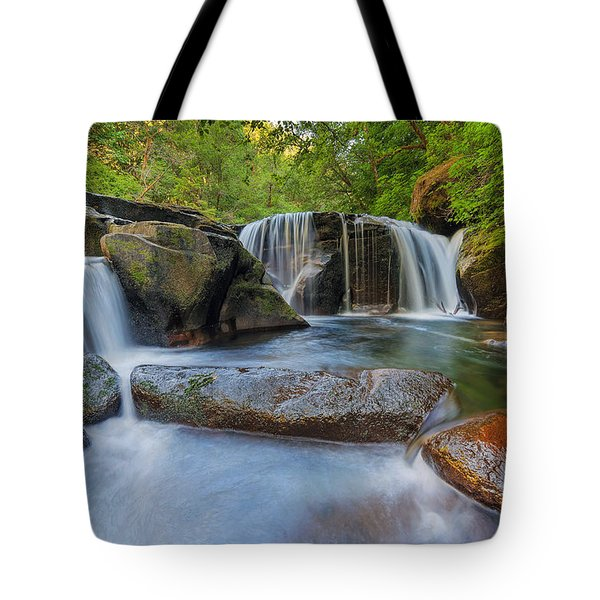 Waterfalls At Sweet Creek Falls Trail Tote Bag