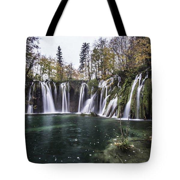 Waterfalls In Croatia Tote Bag