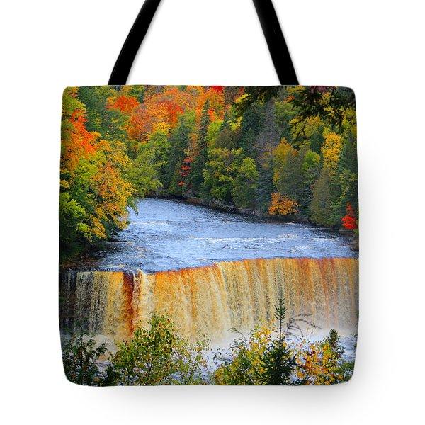 Waterfalls Of Michigan Tote Bag by Michael Rucker