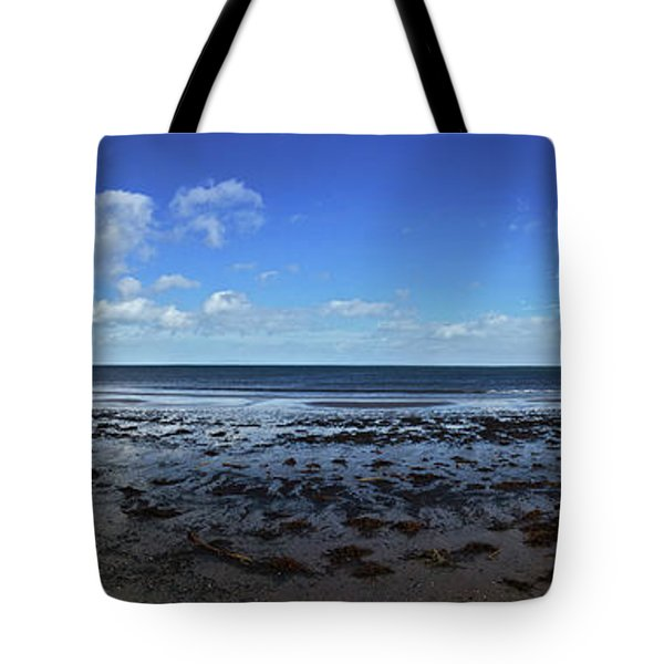 Tote Bag featuring the photograph Waterfoot Beach Panorama by Colin Clarke