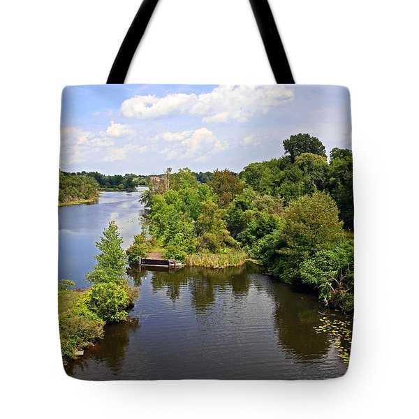 Waterford Ponds Park Tote Bag by Charline Xia