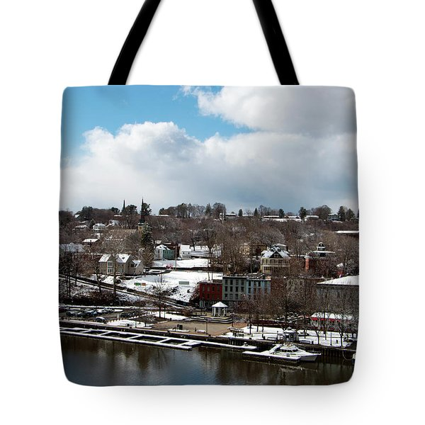 Waterfront After The Storm Tote Bag by Jeff Severson