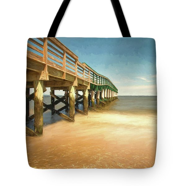 Tote Bag featuring the photograph Waterfront Park Pier 1 by Gary Slawsky