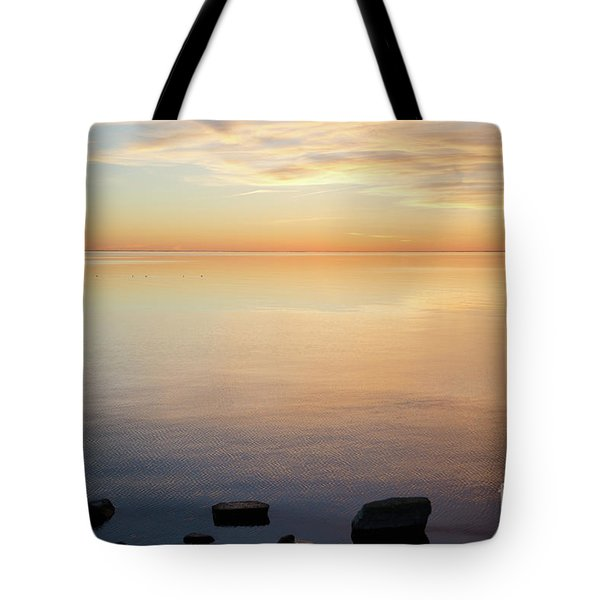 Tote Bag featuring the photograph Waterfront View By Sunset by Kennerth and Birgitta Kullman