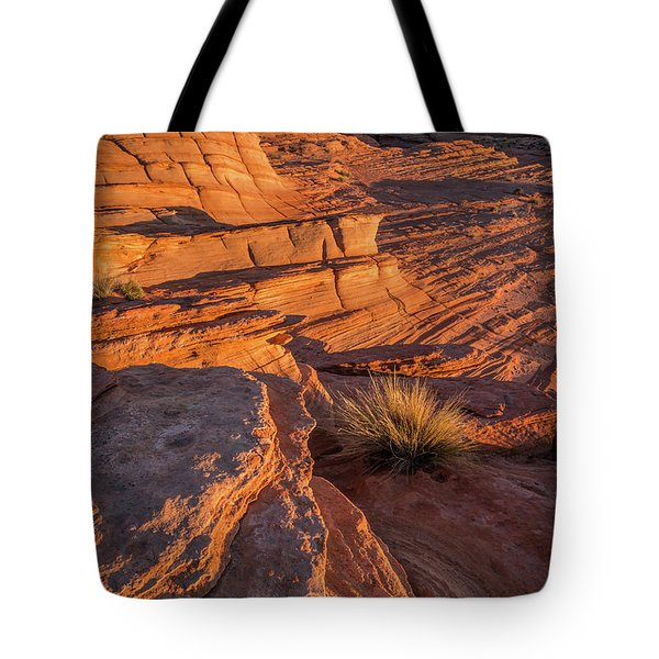 Waterhole Canyon Sunset Vista Tote Bag