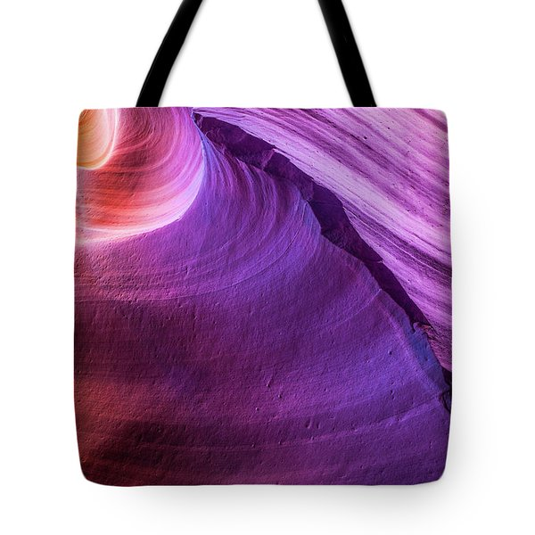 Waterhole Canyon Wave Tote Bag