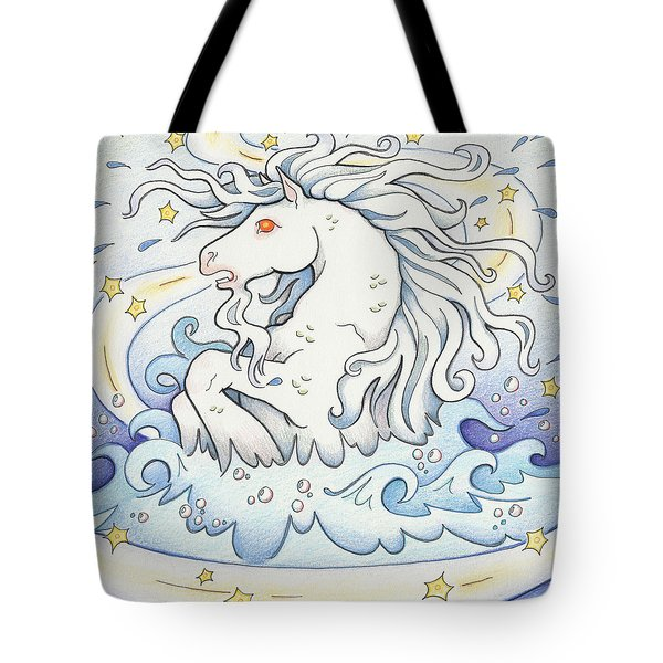Waterhorse Emerges Tote Bag by Amy S Turner