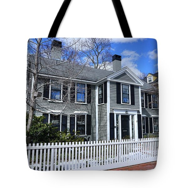 Tote Bag featuring the photograph Waterhouse House In Cambridge by Wayne Marshall Chase
