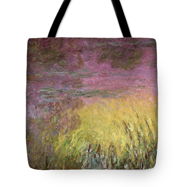 Waterlilies At Sunset Tote Bag by Claude Monet