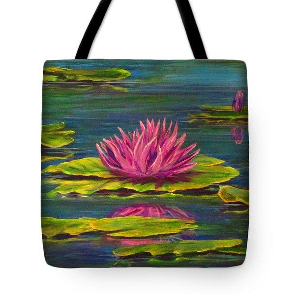 Waterlilies Tote Bag by Cathy Long