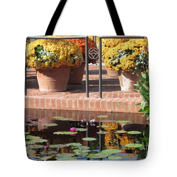 Tote Bag featuring the photograph Waterlilies by Kathie Chicoine