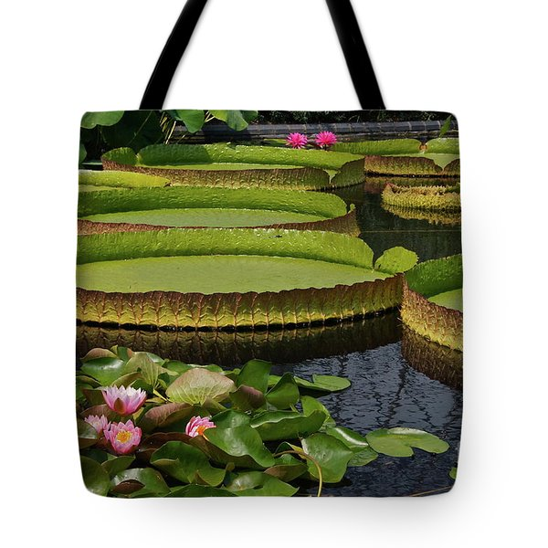 Waterlilies North And South Tote Bag
