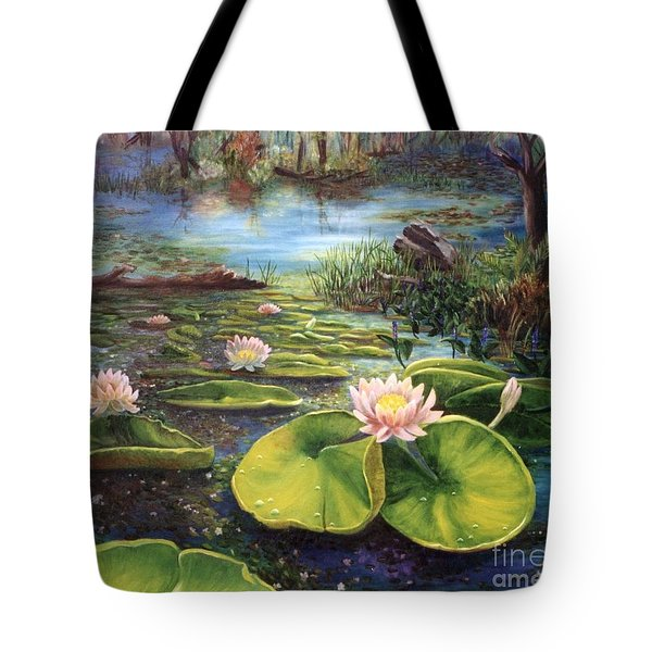 Waterlilies Tote Bag by Renate Nadi Wesley