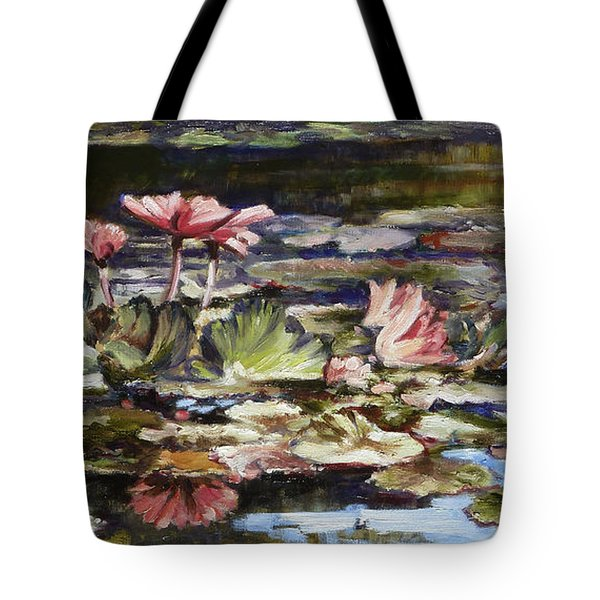 Waterlilies Tower Grove Park Tote Bag