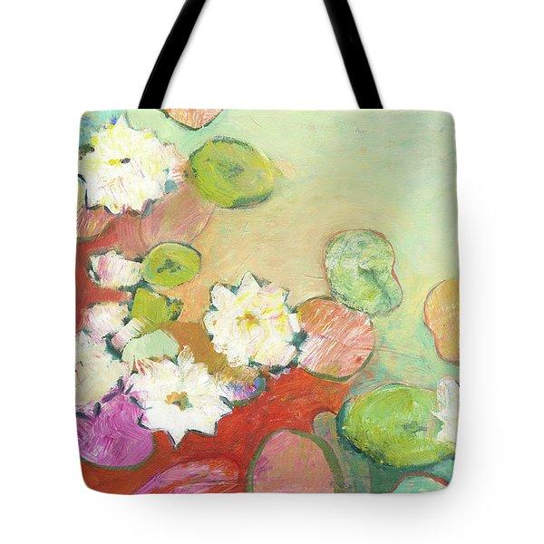 Waterlillies At Dusk No 2 Tote Bag