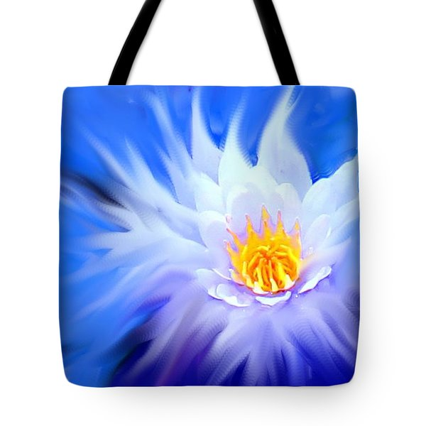 Waterlillies Transformed Tote Bag by Ian  MacDonald