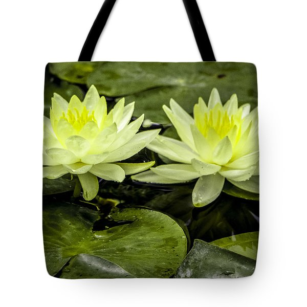 Waterlily Duet Tote Bag
